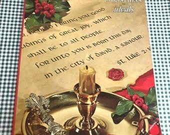 1970  Vintage Christmas Ideals Magazine/Book... Family & Children... Nostalgia... Photos... Poems
