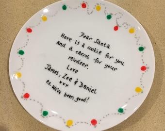 Personaliasd Christmas Plate