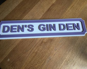 Personalised street sign - various colours available.