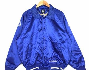 Rare!! Vintage Lecoq Sportif Varsity Jacket Bomber Jacket Large Size