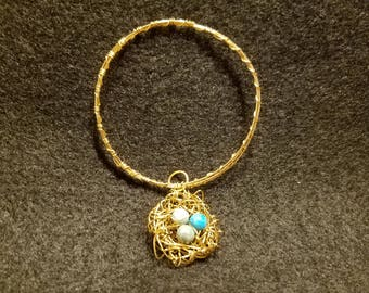 Bird's Nest Bracelet (Robin Eggs)