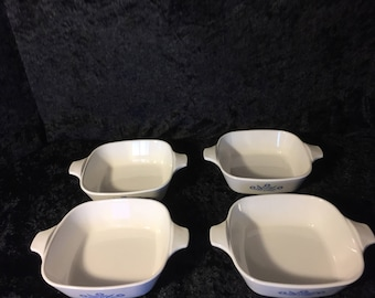 Set of 4 Corning Cornflower Blue P-41-B Petite Pan
