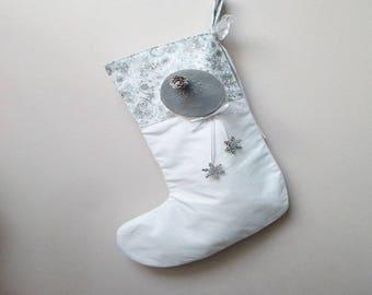 "Cute Christmas stocking ""Snowflake concrete"""