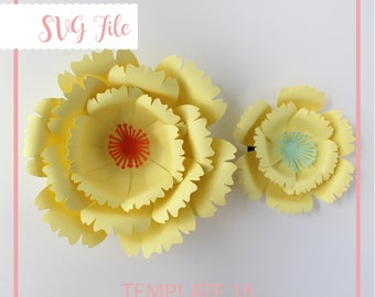 Giant Paper Flower Template, SVG Paper Flower, Paper Flower Template, Flower Template, DIY Flower Wall, Flower BackDrop, Large Paper Flowers