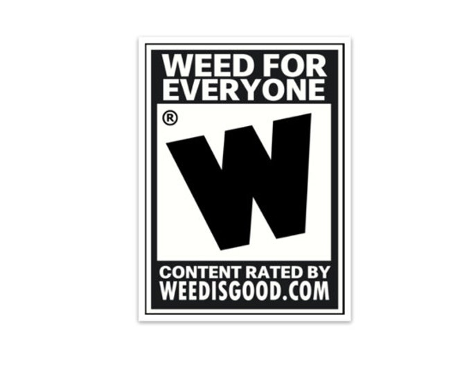Rated Weed is Good Sticker
