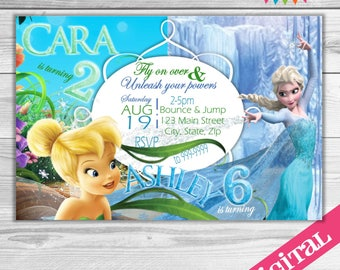 DIGITAL Dual party invitations