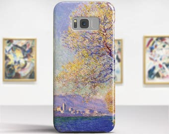 """Claude Monet """"Antibes Seen from the Salis"""" Samsung Galaxy S8 Case Google Pixel Case Galaxy S7 Case LG G6 case Galaxy A5 2017 Case and more."""