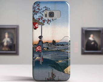 "Utagawa Hiroshige, ""The Teahouse..."". Samsung Galaxy S8 Plus Case LG V30 case Google Pixel Case Galaxy A5 2017 Case. Art phone cases."