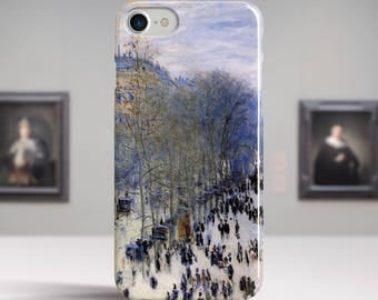 "Claude Monet, ""Boulevard des Capucines"". iPhone 8 Case Art iPhone 7 Case iPhone 6 Plus Case and more. iPhone 8 TOUGH cases. Art iphone cases"