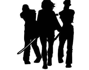 Michonne Walking Dead Zombie Horror Halloween  Vinyl Car Decal Bumper Window Sticker Any Color Multiple Sizes