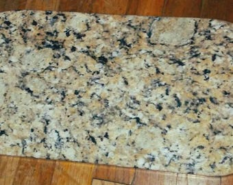 Handcrafted Granite Serving Tray ~ Granite Cheese board ~ Chill Tray ~ With engraved handles ~ Granite cutting board ~ Granite Rolling tray