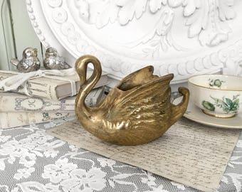 Ancient Brass Swan