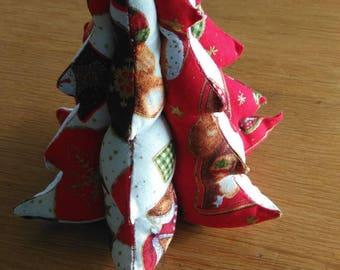 Christmas fabric Christmas tree