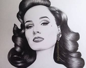 Your Beauty Mark Dita Von Teese pin up print