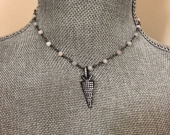 Sparkly Arrowhead Necklace