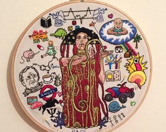 Custom embroidery - PORTRAITS & ILLUSTRATIONS