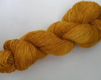 "100gms Handpainted 4ply Merino Single Ply Yarn ""Autumn Morn"""