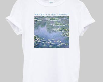 Water Lilies by Monet Inspired Graphic T-Shirt