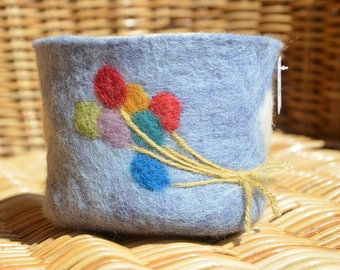 Tidy / Cache pot. felted wool