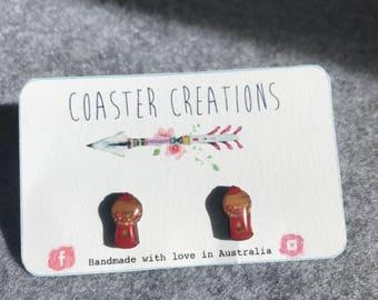 Gumball machine resin earrings