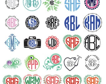 Monogram Decals for Phones, Yetis, Cars, Computers