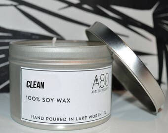 CLEAN SCENT Candle Tin