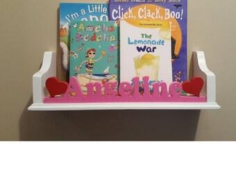kids bookshelf,children's books,book shelf,personalized bookshelf,bookshelf,wall shelving,floating shelf,children bookshelf,wall shelf,shelf