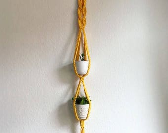 Planthanger * yellow sling *.