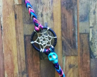 Mini Dream Catcher Bracelets Skull Jewel Tones