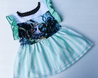 Custom Alice Dress, Handmade Edgy Alice Dress, Little Girls Custom Dress, Disney Dress