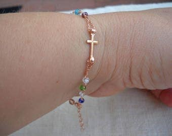 Rosary Bracelet - 925 Sterling Silver gold plated