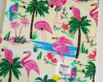 Flamingo book sleeve ALL SIZES