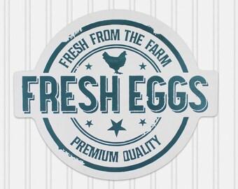 Fresh Eggs Sign - Farmhouse Fresh Eggs Sign - Chicken Lover - Farmhouse Kitchen Decor - Chicken Decor - Rustic Fresh Eggs Sign