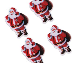 """Father Christmas"" wooden buttons"
