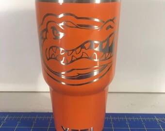 University of Florida Gators custom Powder Coated Yeti 30oz