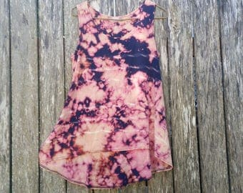 A Summer Storm / Reverse Tie-Dye / Pink / Blue / Shirt / Singlet / Upcycled