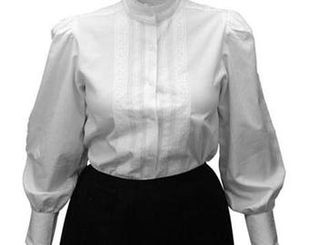 Ladies 100% Cotton Shirt Waist Blouse