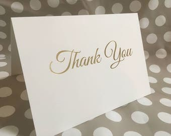 Gold foil Thank You Card and envelope wedding / occasion