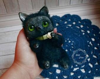 Black cat,plush cat,cute kitten,black kitten,crochet black kitten,amigurumi kitten