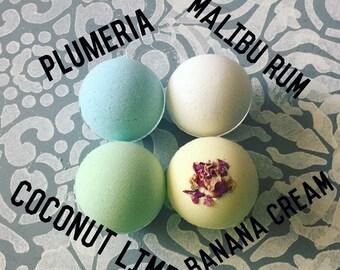 Plumeria bath bombs