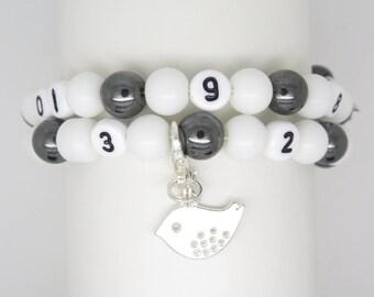 Nursing with choice of charm, gift MOM, Mommy bracelet