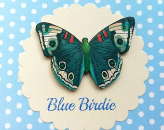 Butterfly brooch blue butterfly pin gifts for her butterfly jewlery insect jewelry nature jewelry butterfly brooch pin