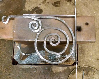 forged wall bracket for hanging signs, flower baskets and bells