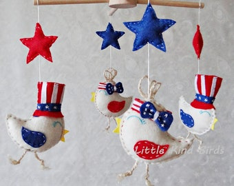 Baby mobile American Dream Ceiling mobile Baby felt mobile Nursery decor Exclusive mobiles Baby crib mobile Kids decor Baby shower gift