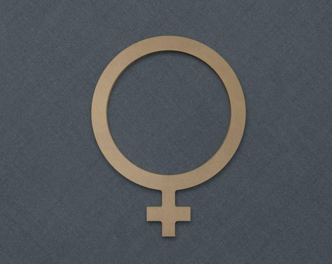 Featured listing image: Gender Frame, Gender Female,  Wood Cutout, Unfinished Sign