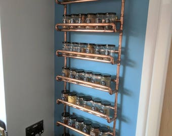 copper pipe spice rack custom dimensions custom price please enquire wall