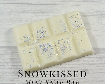 Soy Wax Melts, Snowkissed, Scented Wax Tart, Soy Wax, Snap Bar, Fresh, Clean, Frosted