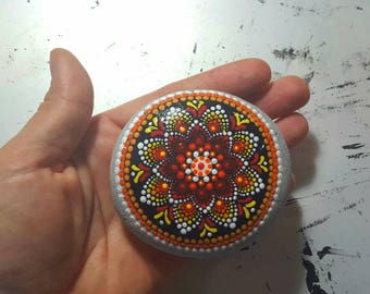 Mandala flower#hand painted#glossy#one of a kind#sunflower#spring#love it#