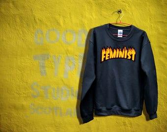 Thrasher Feminist sweatshirt