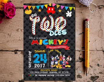 Mickey Mouse Invitation, Mickey Mouse Clubhouse Invitation, Mickey Mouse Invitation, Mickey Invitation, Mickey Mouse Invite, Mickey Mouse.